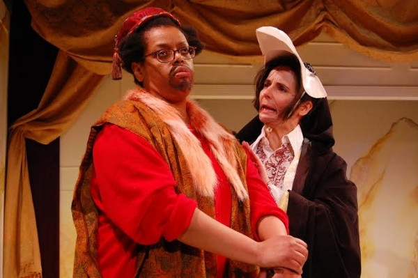 Natalie Lebert (Sir Patient Fancy) and Virginia Baeta (Sir Credulous Easy)