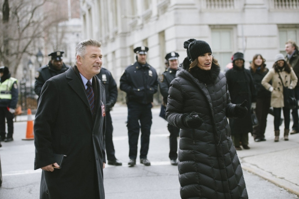 LAW & ORDER: SPECIAL VICTIMS UNIT -- ''Criminal Stories'' Episode 1518 -- Pictured: (l-r) Alec Baldwin, Mariska Hargitay -- (Photo by: Michael Parmelee/NBC)