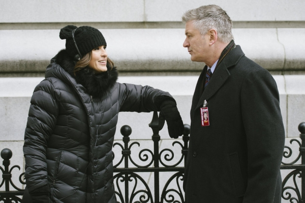 LAW & ORDER: SPECIAL VICTIMS UNIT -- ''Criminal Stories'' Episode 1518 -- Pictured: (l-r) Mariska Hargitay, Alec Baldwin -- (Photo by: Michael Parmelee/NBC)