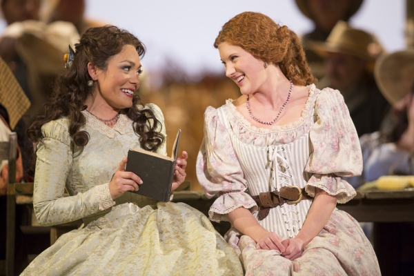 Ailyn Perez as Adina and Shantelle Przybylo as Giannetta