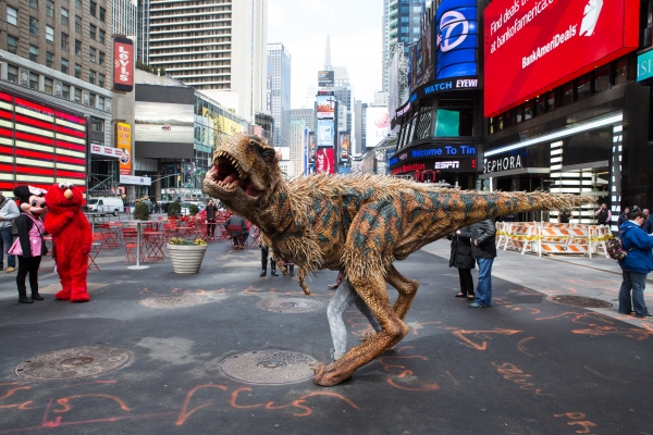Photo Coverage: Baby T from WALKING WITH DINOSAURS Takes Over Times Square
