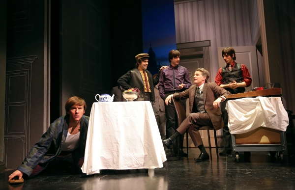 David Wilson Barnes as Ben, James Barry as Pedro, Bryan Fenkart as Claude, James Lloyd Reynolds as Anton, and Lucas Papaelias as Balth