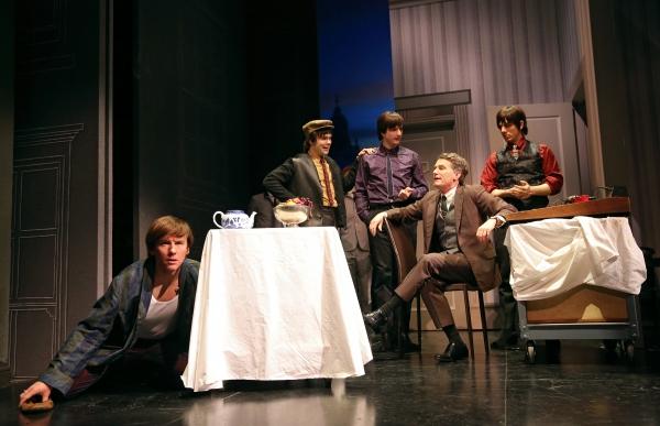 David Wilson Barnes as Ben, James Barry as Pedro, Bryan Fenkart as Claude, James Lloyd Reynolds as Anton, and Lucas Papaelias as Balth