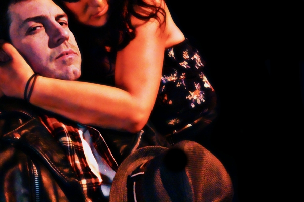 Jackie (Travis Reiff) and Veronica (Amy Probst)  Photo