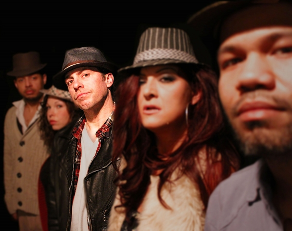The cast of The Motherf**er with the Hat are: (left to right) Brian Marable, Vanessa  Photo