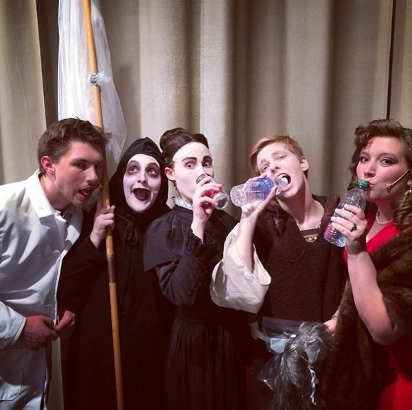 Photo Flash: Saturday Intermission Pics, 3/22, Part 2- Dogs Get in on the Action, Off-Broadway's BARDY BUNCH 1st SIP, and More!