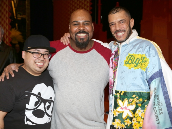 Don Darryl Rivera, James Monroe Iglehart and Dennis Stowe