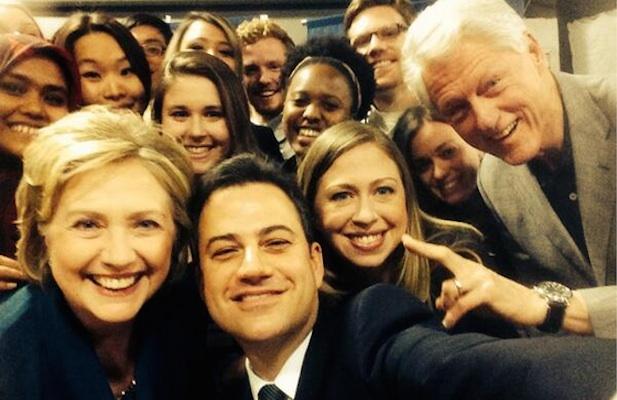 JIMMY KIMMEL Challenges Ellen's Oscar Photo with Clinton Family Selfie