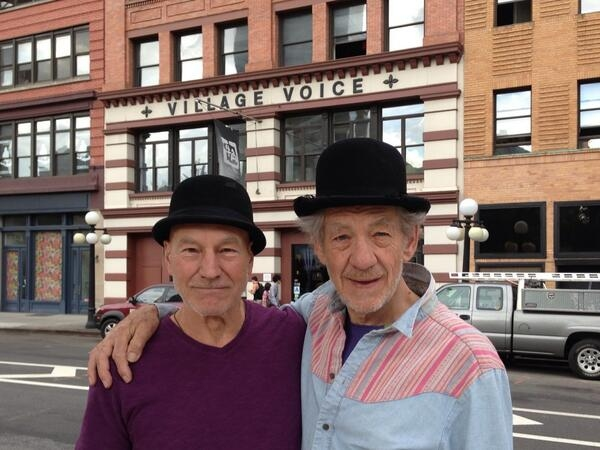 Photo Flash: Sirs Patrick Stewart and Ian McKellen Tweet NYC Photos; Announce Benefit Auction