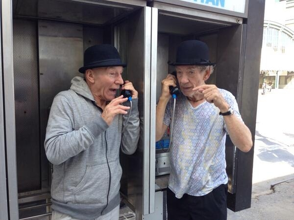 Sir Patrick Stewart and Sir Ian Mckellen