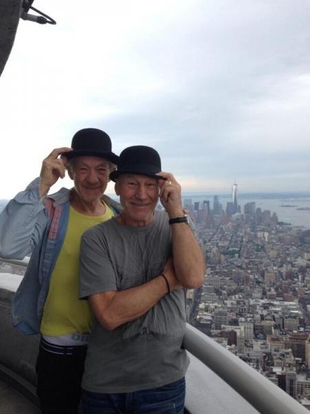 Sir Patrick Stewart and Sir Ian Mckellen