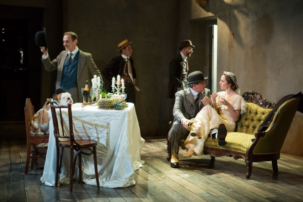 Romeo, John Kelly, Timothy Doyle, John Watkins, Michael Park and Laura Osnes