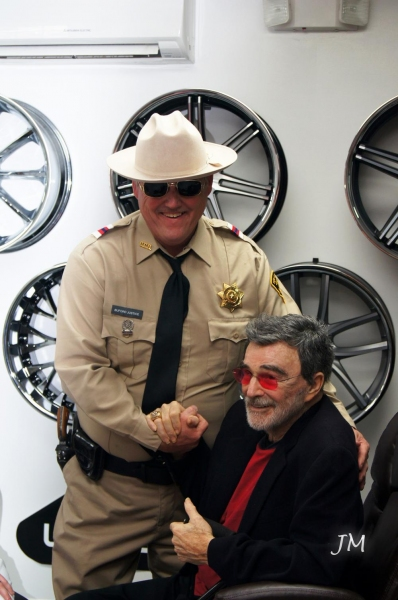 Dave Betz and Burt Reynolds. Photo by Jessica McKinney.