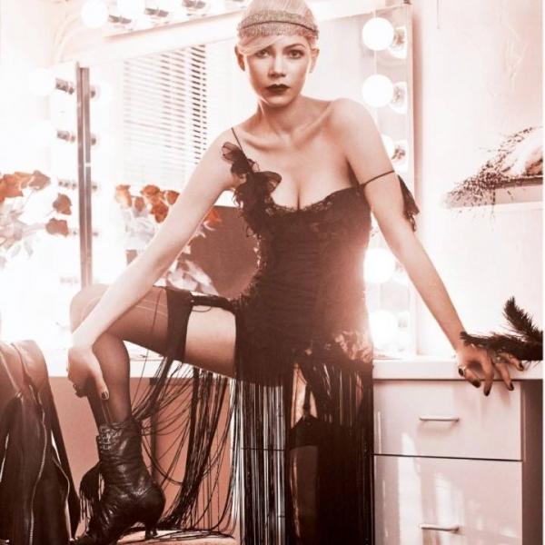 article photo flash sneak peek cabarets michelle williams vogues april issue