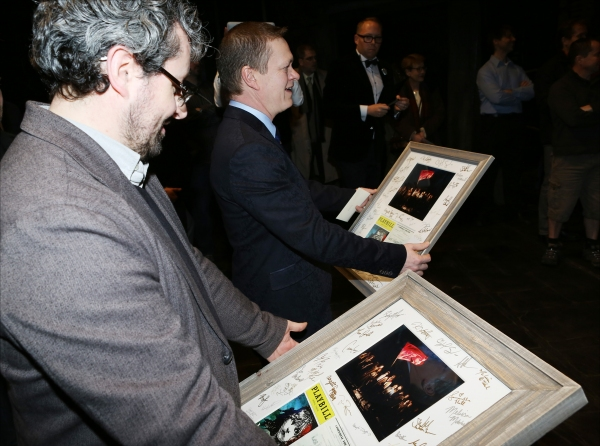 Director Laurence Connor and Director James Powell presented with gifts from the Comp Photo
