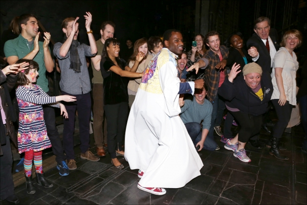 Arbender J. Robinson with Nikki M. James, Andy Mientus, Keala Settle and Company