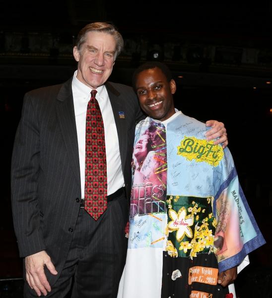 AEA President Nick Wyman with Arbender J. Robinson