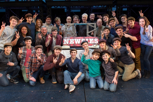Photo Coverage: Kings of News York! NEWSIES Cast Celebrates Two Years on Broadway
