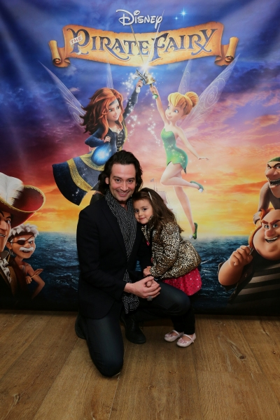 Photo Flash: Constantine Maroulis & Daughter Attend THE PIRATE FAIRY Screening in NYC
