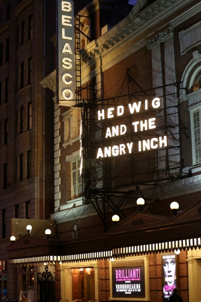 Up on the Marquee: HEDWIG AND THE ANGRY INCH- Complete Installation!