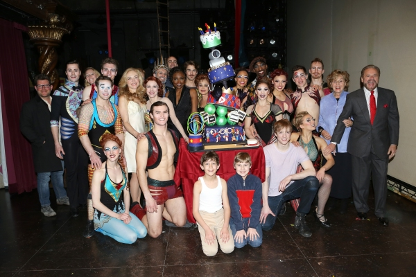 Rachel Bay Jones, Charlotte D''Amboise, Patina Miller, Annie Potts, Matthew James Thomas, Producers Fran Weissler and Barry Weissler with the  cast and creative team