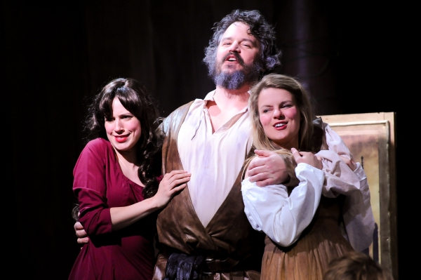 Matthew Lewis Johnson (Falstaff), Caitlin McWethy and Maggie Lou Rader