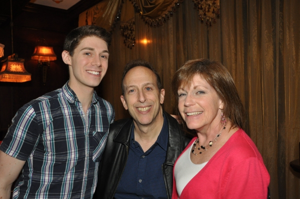 Justin Schuman with his parents-Peter Schacknow and Peri Schacknow