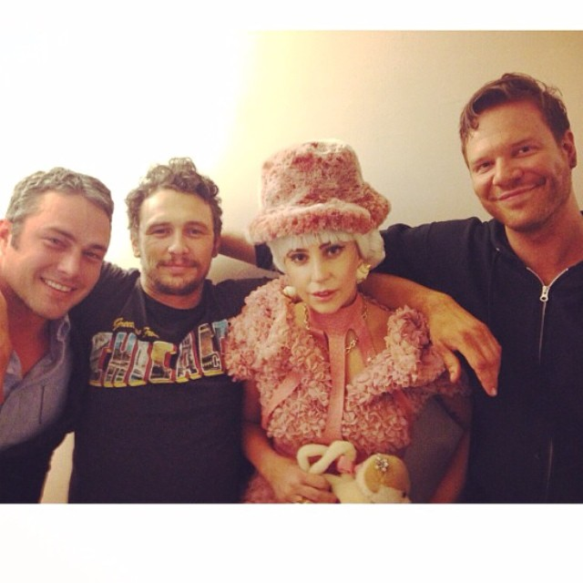 Lady Gaga Visits James Franco Backstage At OF MICE AND MEN