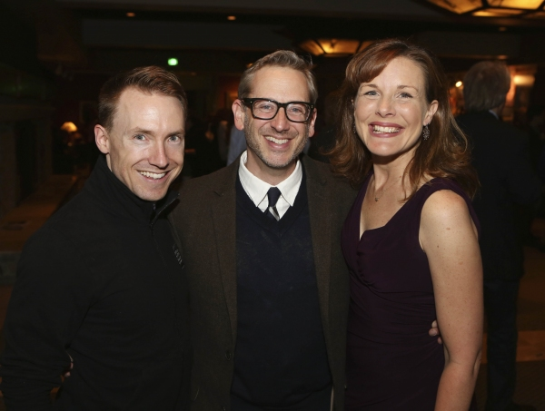 Cast member Mark Whitten, Director Richard Israel and cast member Victoria Strong