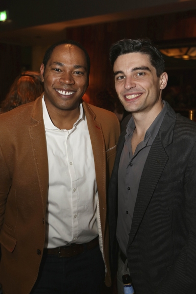 Cast members Jay Donnell and Michael Byrne Photo