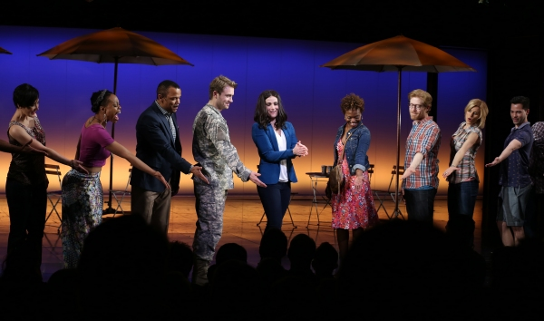 Ann Sanders, Tamika Lawrence, Jerry Dixon, James Snyder, Idina Menzel, LaChanze, Anthony Rapp, Jenn Colella and Jason Tam