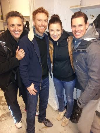 Vincent D'Elia (Butler) , Paul Castree (Simeon), Jenn Gambatese, and Ryan Williams (Pharaoh)