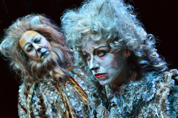 Matthew R. Jones as Old Dueteronomy and Heidi Kettenring as Grizabella