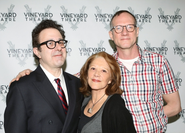 Playwright Nicky Silver, Linda Lavin and Director Mark Brokaw