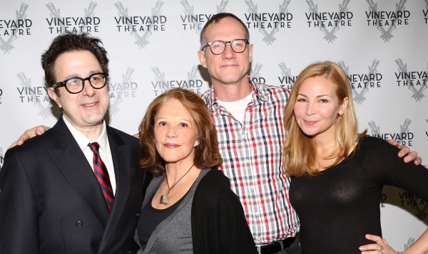 Playwright Nicky Silver, Linda Lavin, Director Mark Brokaw and Jennifer Westfeldt
