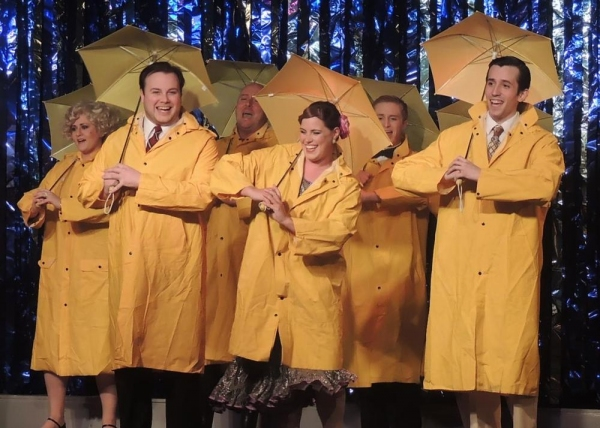Curtain Call - Jordan B. Stocksdale as Don Lockwood, Jaimie Lea Kiska as Kathy Selden, Joseph Waeyaert as Cosmo Brown, and cast members from SINGIN'' IN THE RAIN