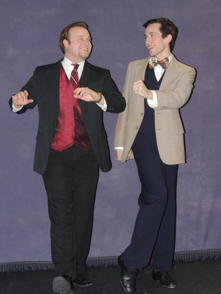 Don and Cosmo - Jordan B. Stocksdale as Don Lockwood and Joseph Waeyaert as Cosmo Bro Photo