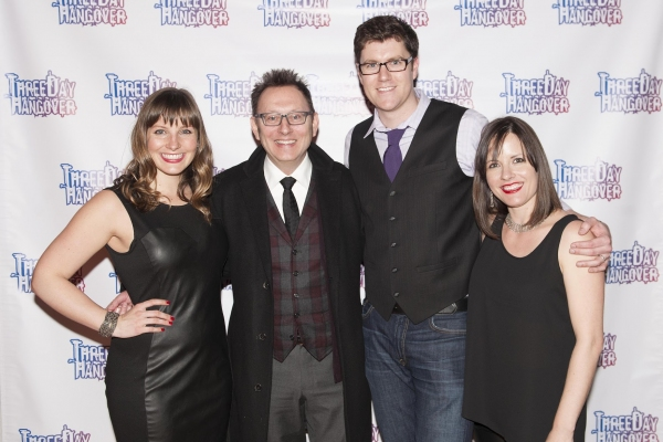 Lori Wolter Hudson, David Hudson and Beth Gardiner with Michael Emerson