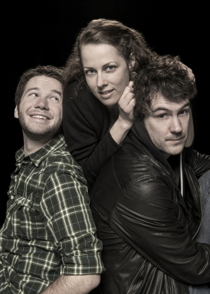 James Caverly (Billy), Nell Geisslinger (Sylvia), and Dan Clegg (Daniel)