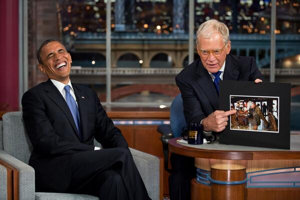 President Obama Reacts to LETTERMAN Retirement News on Twitter