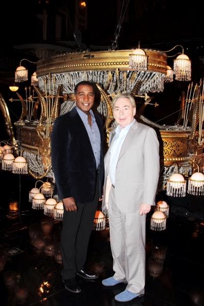 Photo Flash: Andrew Lloyd Webber & Norm Lewis Prep for PHANTOM Debut!