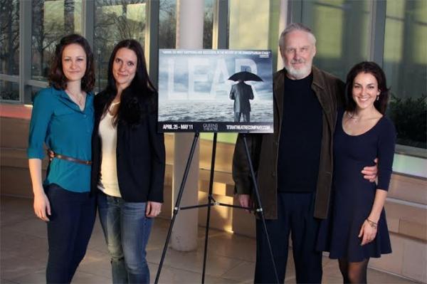 Leah Gabriel (Goneril), Laura Frye (Regan), Terry Layman (Lear), and Susan Maris (Cordelia)