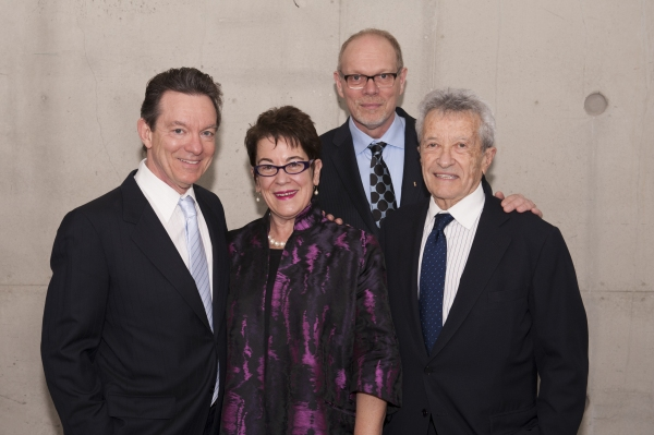 Playwright Lawrence Wright, director Molly Smith, Executive Producer Edgar Dobie and producer Gerald Rafshoon