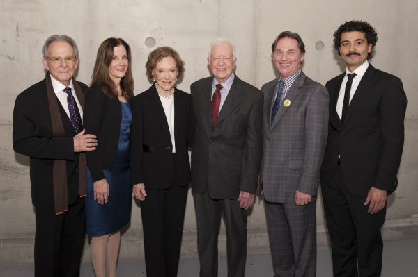 Ron Rifkin, Hallie Foote, Rosalynn Carter, President Jimmy Carter, Richard Thomas and Khaled Nabawy