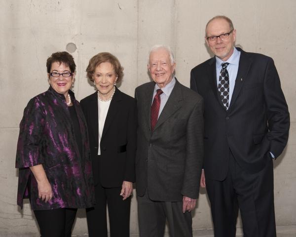 Director Molly Smith, Rosalynn Carter, President Jimmy Carter and Executive Producer Edgar Dobie