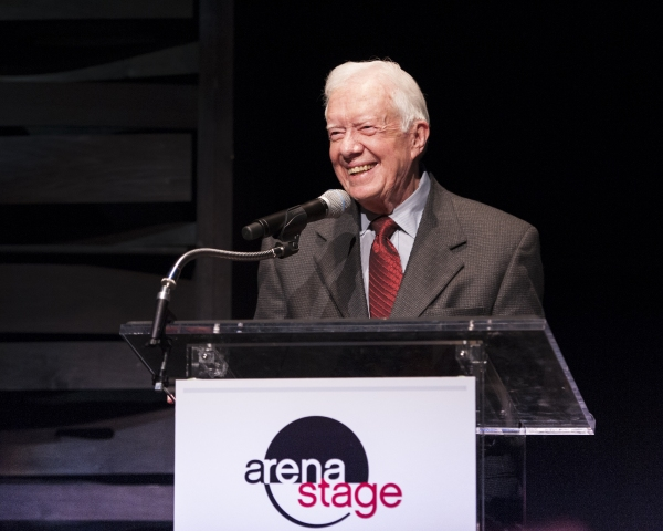 President Jimmy Carter addresses dinner guests