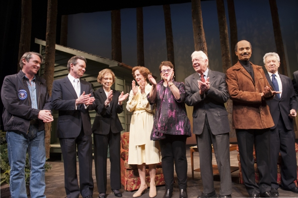 President Jimmy Carter and Rosalynn Carter join the company of CAMP DAVID onstage for the opening night curtain call