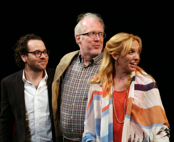 Director Sam Gold, Tracy Letts and Toni Collette