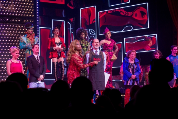 Billy Porter, Marcus Neville, and the cast of KINKY BOOTS