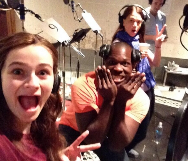 Photo Flash: In the Recording Studio with the Cast of VIOLET!